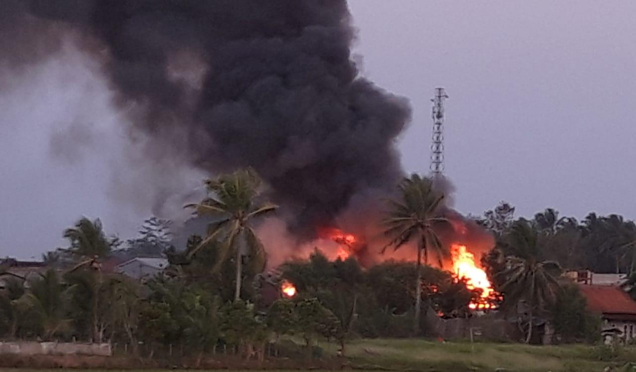 Kebakaran pasar baros