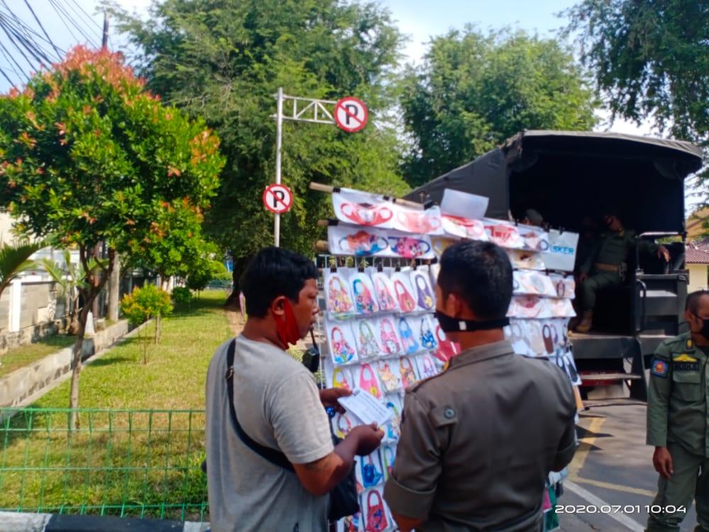 Pemberian surat teguran kpd para pkl